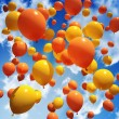 Balloon's released into the sky — Stock Photo