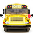 School bus front view — Stock Photo
