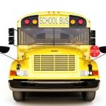 vista frontal del autobús escolar — Foto de Stock