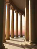 Column architecture with a sunset background — Stock Photo