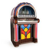 Retro vintage jukebox — Stock Photo