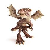 Dragon posing in a fierce position — Stock Photo