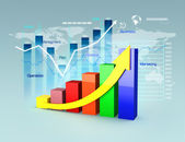 Business plan with graphs and charts — Stock Photo