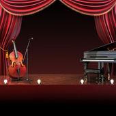 Orchestra symphony themed stage — Stock Photo