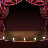 Lighted stage background — Stock Photo