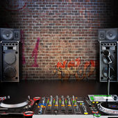 Dj R&B, Rap,Pop music background — Stock Photo
