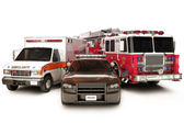 First reponder vehicles — Stock Photo