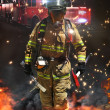 Firefighter ready for battle — Stock Photo #29951101