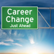 Career change just ahead concept depicting a new choice in job Career — Stock Photo