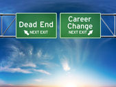 Career change or dead end job concept. — Stock Photo