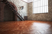 Empty room with rustic finishes — Stock Photo