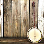 Banjo country background — Stock Photo