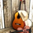 Country music background — Foto de Stock