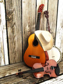 Country music background — Stock Photo