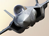 F35-A lightning closeup — Stock Photo