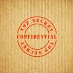 Top Secret Confidential box — Stock Photo