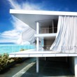 Modern open air architecture with an ocean view. — Stock Photo