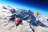 Balloon's soaring — Stock Photo