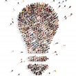 Large group of people with Ideas — Stock Photo #47806947