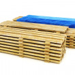 Stacks of wood building lumber on a white background. — Stock Photo #49654231