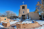 San Miguel Mission Chapel, Santa Fe, New Mexico. — Stock Photo