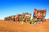 Cadillac Ranch, Amarillio, Texas, USA — Stock Photo
