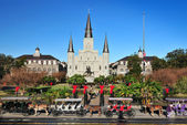 The Saint Louis Cathedral-Basilica, French Quarter, New Orleans, Louisiana USA. — Stock Photo
