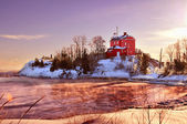 Marquette Harbor Lighthouse, Michigan USA — Stock Photo