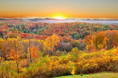 Autumn sunrise lansdcape — Stock Photo