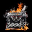 Typewriter flame - Stock Photo