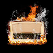 Radio flame — Stock Photo