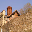 Wall, roof and chimney in Windsor — Stock Photo #12368317