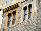 Antique windows in Windsor castle — Stock Photo