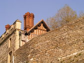 Wall, roof and chimney in Windsor — Stock Photo