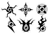 Eyeball tattoo — Stock Photo