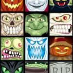 Halloween Avatars — Stock Vector