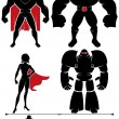 Stock Vector: Superhero Silhouette