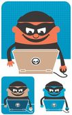 Computer Crime — Stock Vector