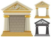 Greek Temple — Vector de stock