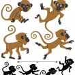 Royalty-Free Stock Vector Image: Monkeys
