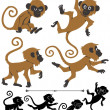 Monkeys - Stock Vector