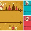 Stock Vector: Christmas Card 4