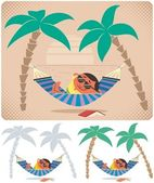 Hammock Relaxation — Stock Vector