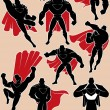 Stock Vector: Superhero in Action