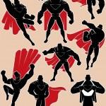 Superhero in Action — Stock Vector