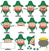Leprechaun Set — Stock Vector