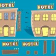Hotel illustration — Stock Vector