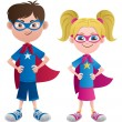 Super Kids — Vector de stock #24737241