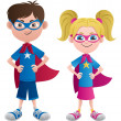 Super Kids — Stockvectorbeeld