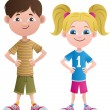 Boy and Girl — Stock Vector #24786651